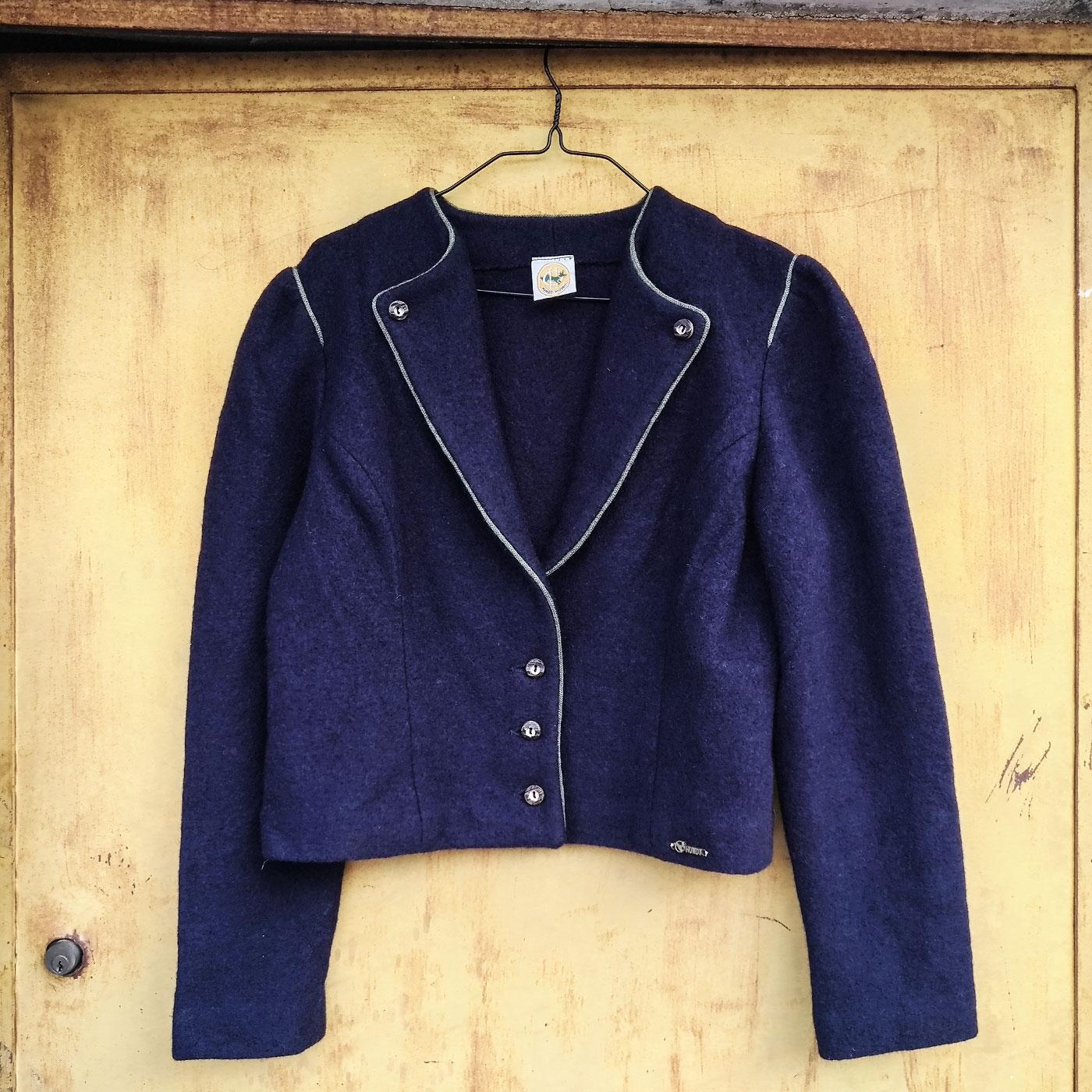 Giacca vintage Hundt in pura lana